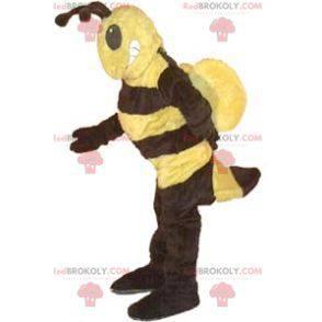 Maskot žluté a černé vosy - Redbrokoly.com