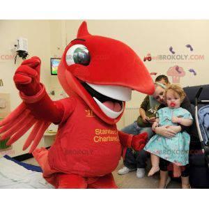 Maskot velký červený pták - Redbrokoly.com
