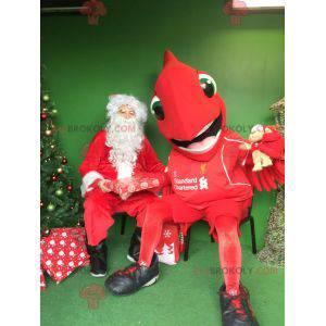 Big red bird mascot - Redbrokoly.com
