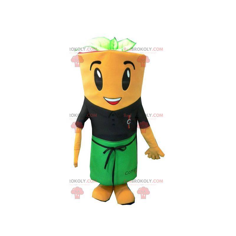 Obří mrkev maskot se zástěrou - Redbrokoly.com