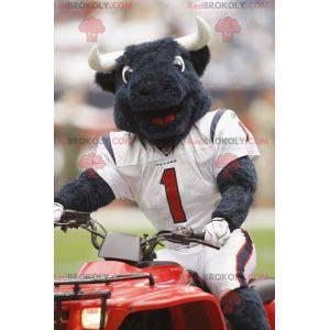 Black buffalo mascot in American football gear - Redbrokoly.com