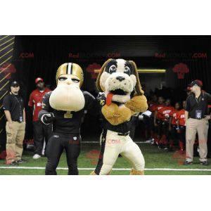 Pies maskotka i amerykański piłkarz - Redbrokoly.com