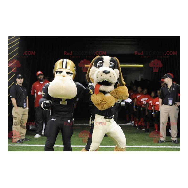 Hundemaskot og amerikansk fotballspiller - Redbrokoly.com