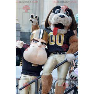 Dog and American football mascot - Redbrokoly.com