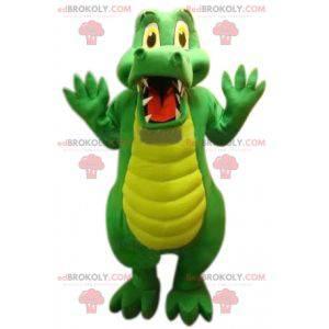 Mascote crocodilo verde fofo e engraçado - Redbrokoly.com