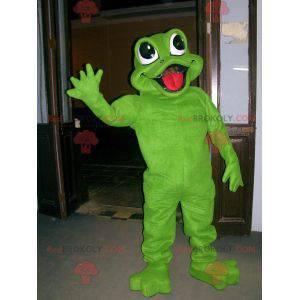 Bardzo ładna i wesoła maskotka zielona żaba - Redbrokoly.com