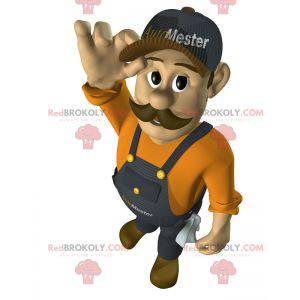 Handwerker Mann Garagenarbeiter Maskottchen - Redbrokoly.com