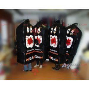 4 maskotki Niquitin. 4 maskotki czarnych potworów -