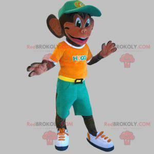 Mascot of the famous Waikiki monkey. Colorful monkey -