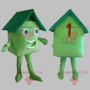 Zelený dům maskot. Maskot domu - Redbrokoly.com