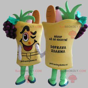 Zeleninový koš maskot. Zeleninový maskot - Redbrokoly.com
