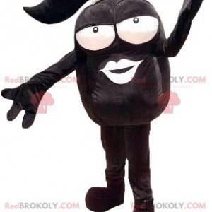 Cabeça de mascote negra grande - Redbrokoly.com
