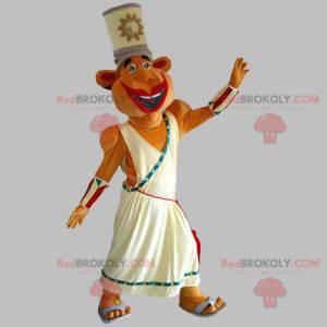 Pharaoh mascot in traditional dress. Egypt mascot -