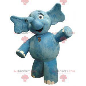 Plump and flirtatious blue elephant mascot - Redbrokoly.com