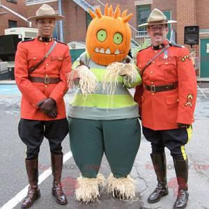 Maskot strašák s dýňovou hlavou - Redbrokoly.com