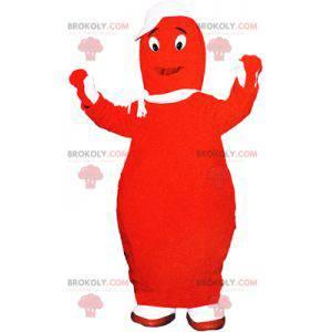Rød Barbapapa maskot. Giant bowling maskot - Redbrokoly.com