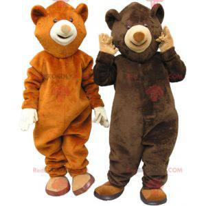 2 medvědi maskoti medvěd hnědý a medvěd hnědý - Redbrokoly.com