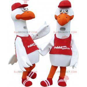 2 maskoter av måke storker - Redbrokoly.com