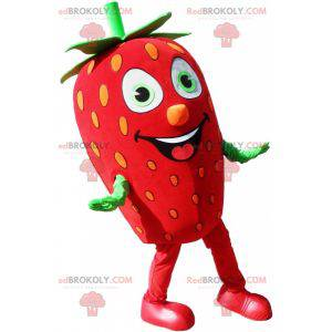 Giant red and green strawberry mascot - Redbrokoly.com