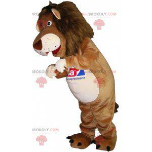 Beige and white tiger lion mascot - Redbrokoly.com