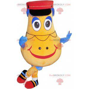 Gelbe und blaue Schneemannmaskottchenkartoffel - Redbrokoly.com