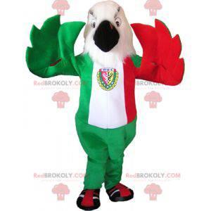 Adler Maskottchen in den Farben der italienischen Flagge -