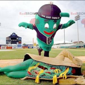 2 maskoti obří zelený muž a sendvič taco - Redbrokoly.com