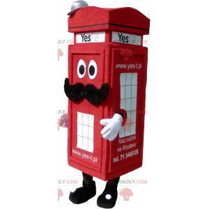 Maskot červené telefonní budky v londýnském stylu -