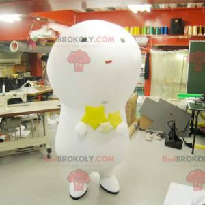 Mascot big white man with giant bulb - Redbrokoly.com