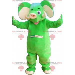 Flashy green elephant mascot - Redbrokoly.com