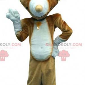 Brązowy kot maskotka ze spiczastymi uszami - Redbrokoly.com