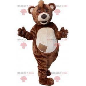 Maskot medvídek hnědý a béžový - Redbrokoly.com