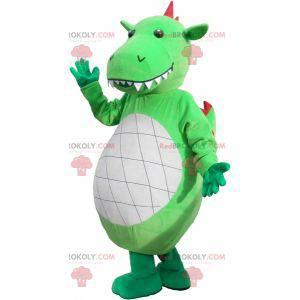 Obří a působivý maskot zeleného dinosaura - Redbrokoly.com