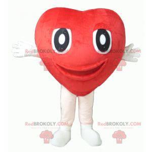 Kæmpe og sød rød hjertemaskot - Redbrokoly.com