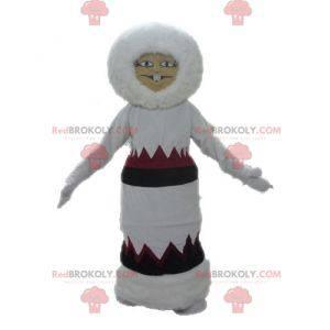 Eskimo-Maskottchen im Kleid. Indisches Maskottchen -