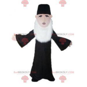 Priest mascot. Bearded man mascot - Redbrokoly.com