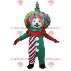 Farverig klovnemaskot. Cirkus maskot - Redbrokoly.com