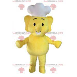 Yellow elephant mascot. Cook mascot - Redbrokoly.com