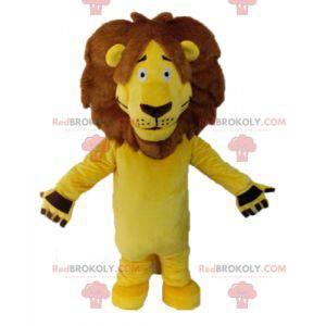 Riesengelbes Löwenmaskottchen. Katzenmaskottchen -
