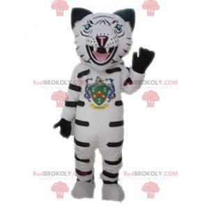 Maskot lynx bílý leopard. Gepard maskot - Redbrokoly.com