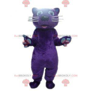 Purple panther tiger mascot - Redbrokoly.com