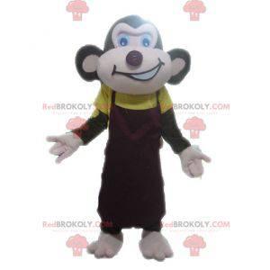 Brown monkey mascot looking fierce - Redbrokoly.com