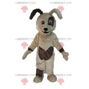Měkký a roztomilý béžový a hnědý psí maskot - Redbrokoly.com