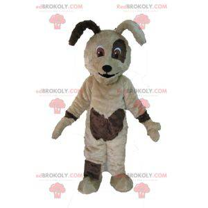 Soft and cute beige and brown dog mascot - Redbrokoly.com