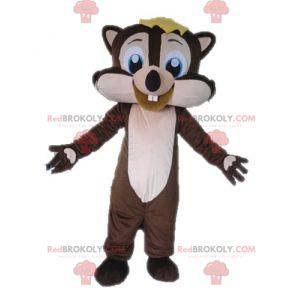 Velmi usměvavý maskot hnědé a růžové veverky - Redbrokoly.com