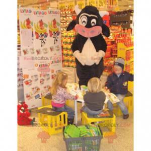 Black white and pink cow mascot - Redbrokoly.com