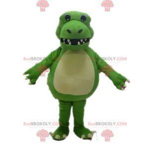 Giant and impressive green dinosaur mascot - Redbrokoly.com