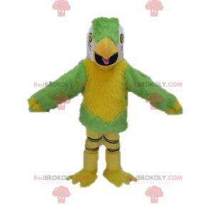 Žlutý a bílý zelený papoušek maskot - Redbrokoly.com