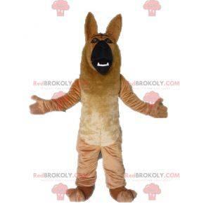 Giant brown and black German Shepherd dog mascot -