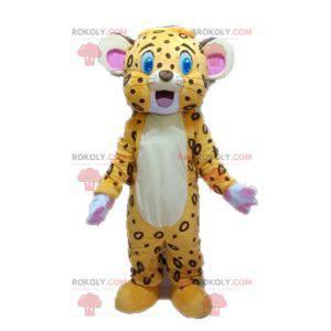 Maskott gul og brun tiger. Lion cub maskot - Redbrokoly.com